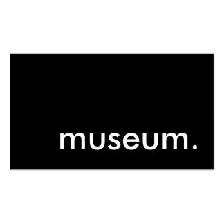 museo tarjetas de visita