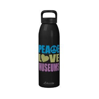 Museos del amor de la paz botallas de agua