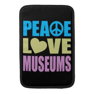 Museos del amor de la paz funda  MacBook