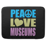 Museos del amor de la paz fundas para macbooks