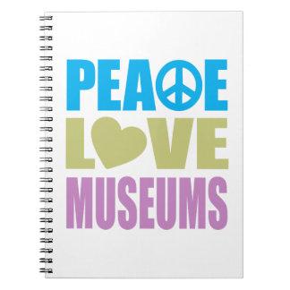 Museos del amor de la paz libro de apuntes con espiral