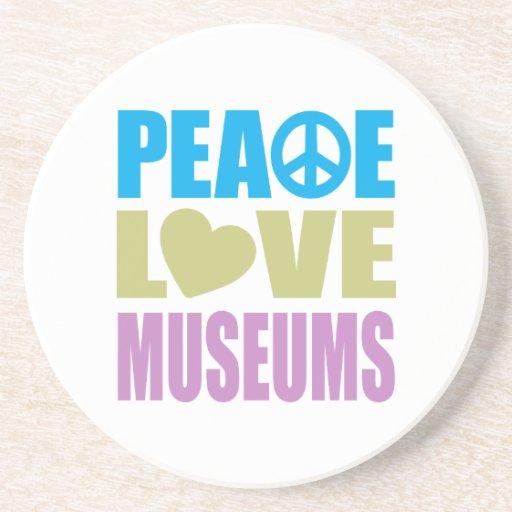 Museos del amor de la paz posavasos personalizados