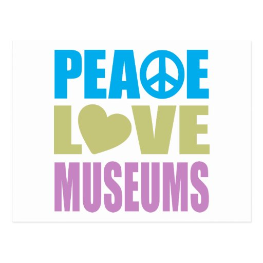 Museos del amor de la paz tarjeta postal