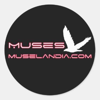 Muses Black Sticker