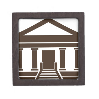 Museum Bank Government Building Icon Jewelry Box