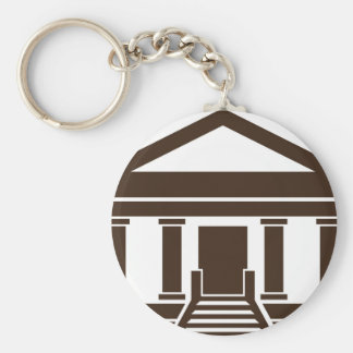 Museum Bank Government Building Icon Keychain