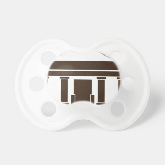 Museum Bank Government Building Icon Pacifier