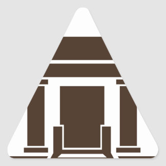 Museum Bank Government Building Icon Triangle Sticker