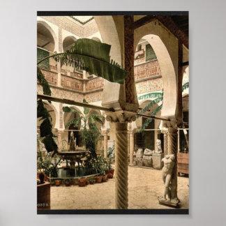 Museum: entrance hall, I, Algiers, Algeria vintage Posters