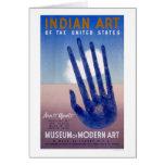 Museum Modern Art Indian 1938 WPA Card