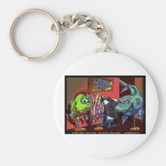 Museum Modern Fish Funny Cartoon Gifts Key Chains