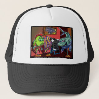 Museum Modern Fish Funny Cartoon Gifts Trucker Hat
