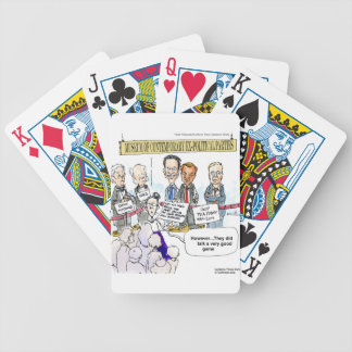 Museum Of Ex Political Parties Funny Gifts & Tees Bicycle Playing Cards