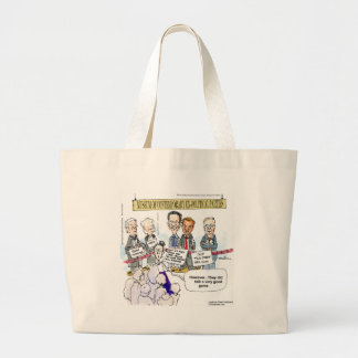 Museum Of Ex Political Parties Funny Gifts & Tees Large Tote Bag