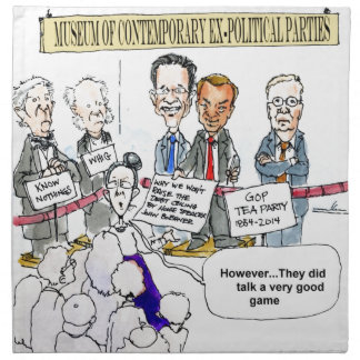 Museum Of Ex Political Parties Funny Gifts & Tees Napkins