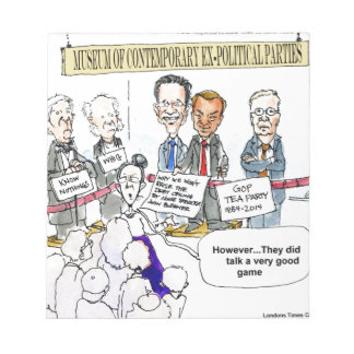 Museum Of Ex Political Parties Funny Gifts & Tees Memo Pad