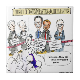 Museum Of Ex Political Parties Funny Gifts & Tees Tile