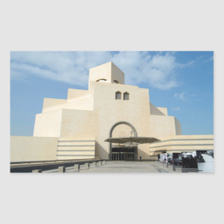 Museum of Islamic Arts, Qatar rectangular sticker