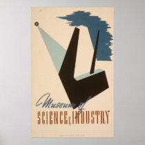 Museum Of Science Industry Vintage WPA Poster