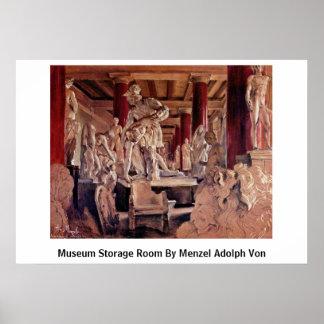 Museum Storage Room By Menzel Adolph Von Poster