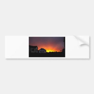 Museum sunset Saskatchewan Canada Bumper Sticker
