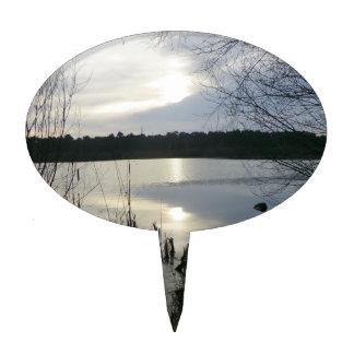 Musgo de Blakemere en la puesta del sol en el bosq Decoración Para Tarta