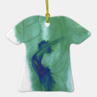 Musgo del alcohol adorno de cerámica en forma de camiseta