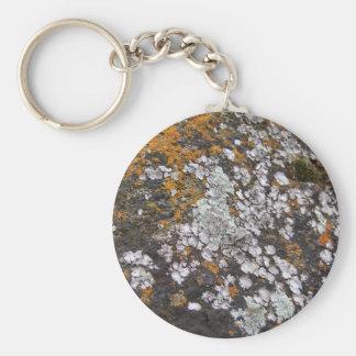 Musgo español y granito llavero redondo tipo pin