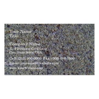 Musgo gris en superficie rocosa tarjetas de visita