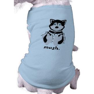 """""""Mush"""" Cute Husky Sled Dog in Harness T-Shirt"""