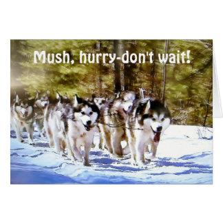 MUSH HURRY DON'T WAIT-50th BIRTHDAY Card