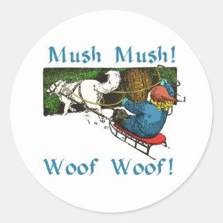 Mush Mush Woof Woof Classic Round Sticker