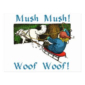 Mush Mush Woof Woof Postcard