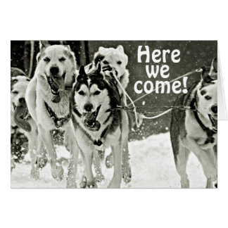 MUSHERS SAY HERE WE COME BROTHER ON YOUR BIRTHDAY CARD
