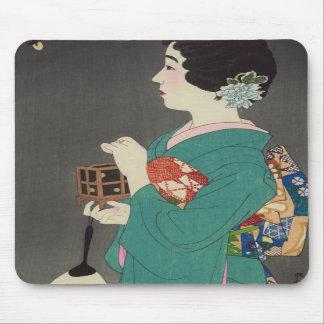 Mushikago, Itō Shinsui - Japanese Woodblock Print Mouse Pads