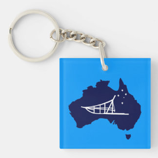 Mushing Down Under Double-Sided Square Acrylic Keychain