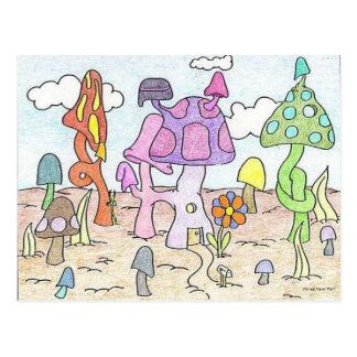 Mushoom House Fun Postcard