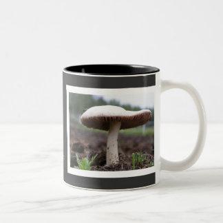 Mushroom #7 Two-Tone coffee mug
