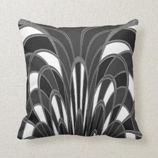 Mushroom Abstract - Art Deco Gray Grey Throw Pillow