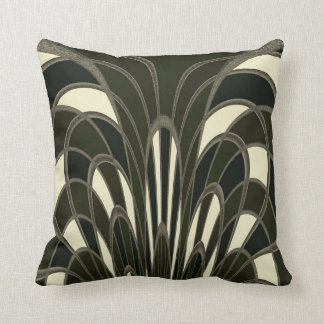 Mushroom Abstract - Art Deco - Lichen Throw Pillow