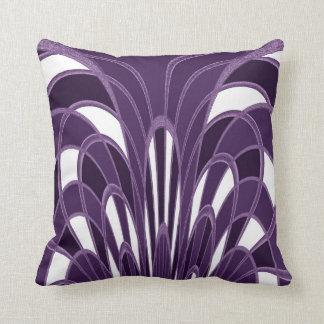 Mushroom Abstract - Art Deco Plum Throw Pillow