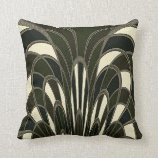 Mushroom Abstract - Art Deco Throw Pillow