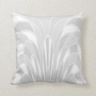 Mushroom Abstract - Art Deco White Pillow