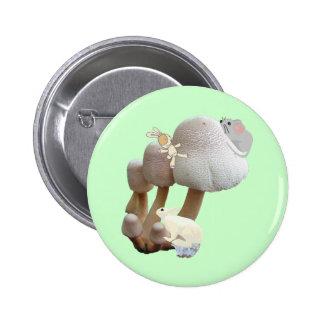 Mushroom Baby Toy Playground Pinback Button