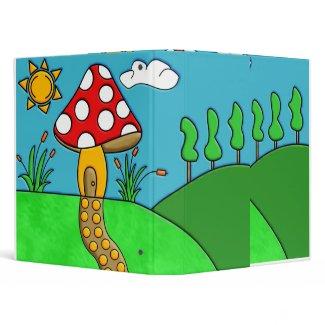 Mushroom 3 Ring Binders