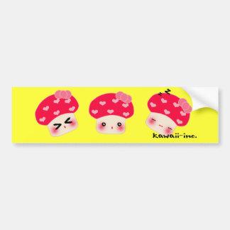 Mushroom bumper sticker! car bumper sticker