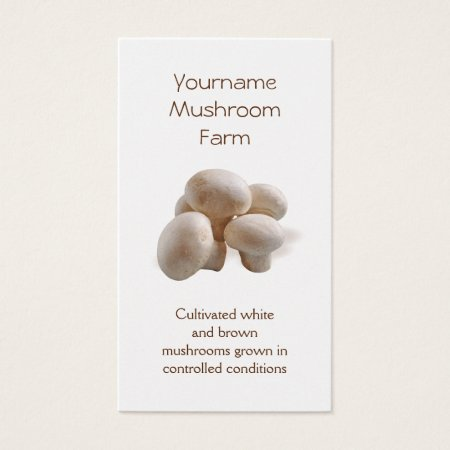 Mushroom Farm Business Cards