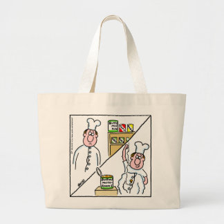 Mushroom Chef Cartoon Funny Grocery Tote