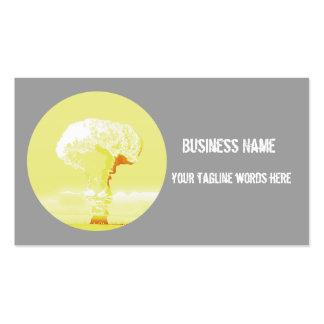 mushroom cloud  dynamic card business card template