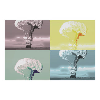 mushroom cloud poster